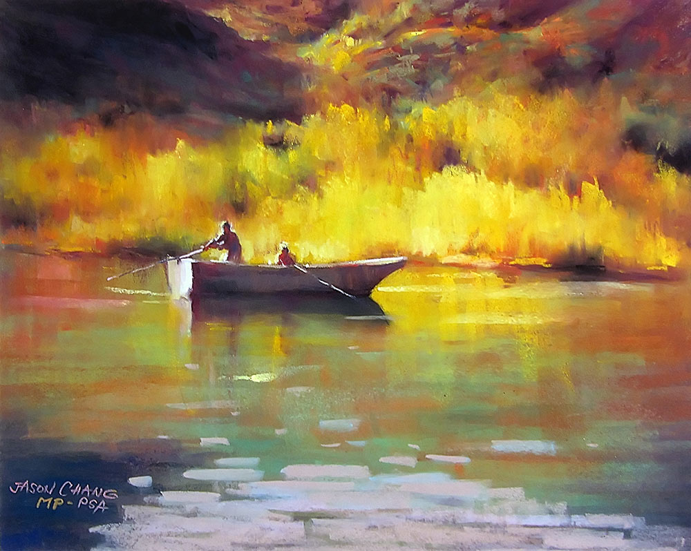 Autumn Lake 41x51cm Pastel